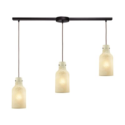 Burkhead Linear Bar 3-Light Cascade Pendant Shade Color: Beige