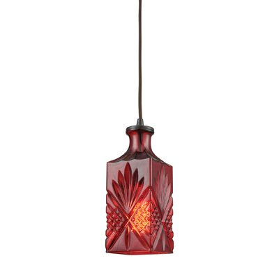 Brunoy 1-Light Mini Pendant Shade Color: Wine Red