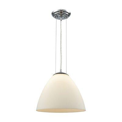 Mcbride 1-Light Mini Pendant Shade Color: White, Size: 11 H x 12 W x 12 D