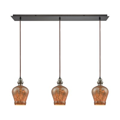 Brightmare Linear Pan 3-Light Kitchen Island Pendant