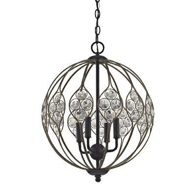Dallas Crystal 4-Light Globe Pendant