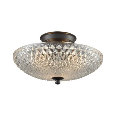 Aylward 3-Light Semi Flush Mount