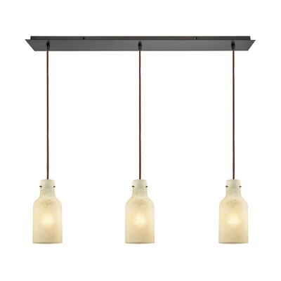 Burkhead Linear Pan 3-Light Kitchen Island Pendant Shade Color: Beige