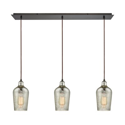 Rancho Mirage Linear Pan 3-Light Kitchen Island Pendant Shade Color: Mercury