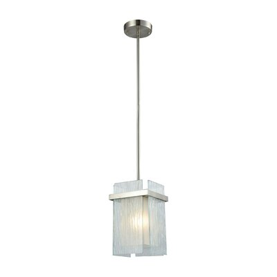 Paulsboro 1-Light Mini Pendant Base Finish: Satin Nickel
