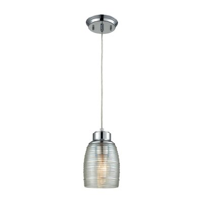 Snyder 1-Light Mini Pendant Finish: Polished Chrome/Clear