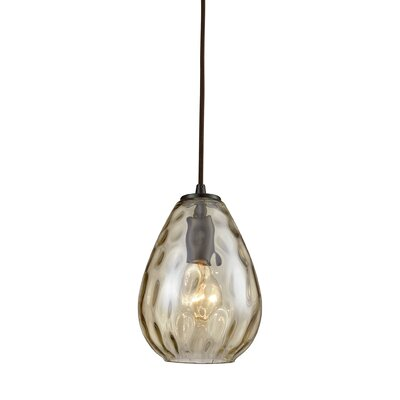 Bradsher 1-Light Mini Pendant Finish: Oil Rubbed Bronze/Champagne Plated