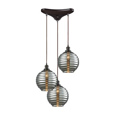 Bourbeau 3-Light Cascade Pendant