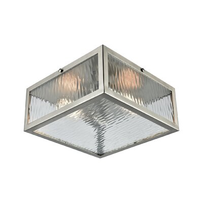 Fleeman 2-Light Flush Mount Finish: Polished Chrome