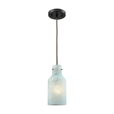 Burkhead 1-Light Mini Pendant Shade Color: Seafoam