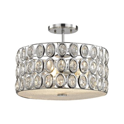 Blucher 3-Light Semi Flush Mount