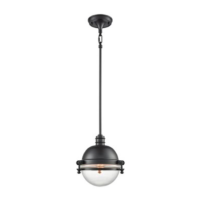 Aquila 1-Light Mini Pendant Color: Oil Rubbed Bronze/Clear
