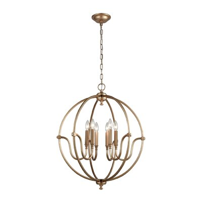 Clarke 6-Light Candle-Style Chandelier
