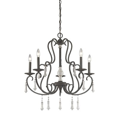 Pollitt 5-Light Candle-Style Chandelier