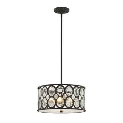 Amara 3-Light Drum Pendant