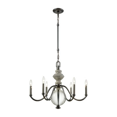 Meng 6-Light Candle-Style Chandelier