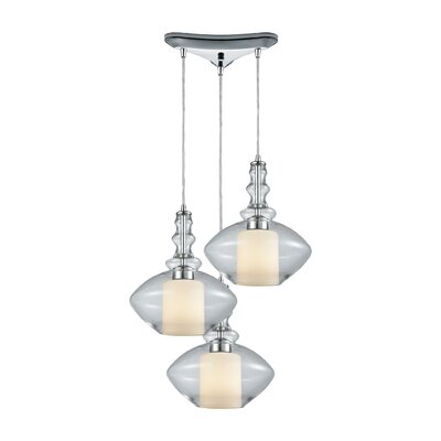 Cabell 3-Light Cascade Pendant