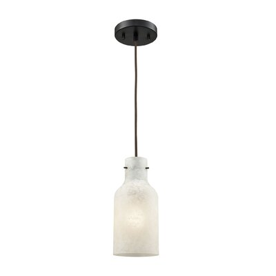 Burkhead 1-Light Mini Pendant Shade Color: White