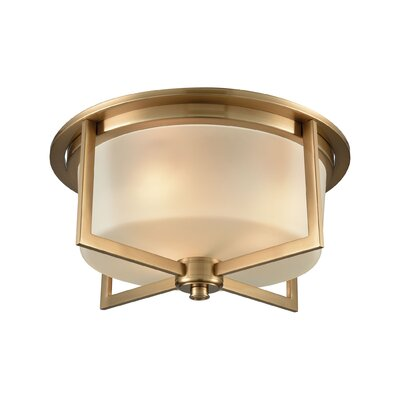 Bader 3-Light Flush Mount Finish: Satin Brass