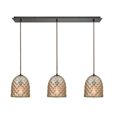 Brilon 3-Light Kitchen Island Pendant