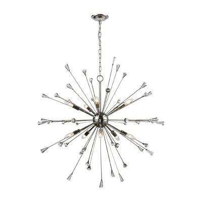 Byrns 10-Light Sputnik Chandelier Finish: Polished Nickel/Clear