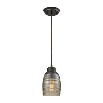 Snyder 1-Light Mini Pendant Finish: Oil Rubbed Bronze/Champagne Plated