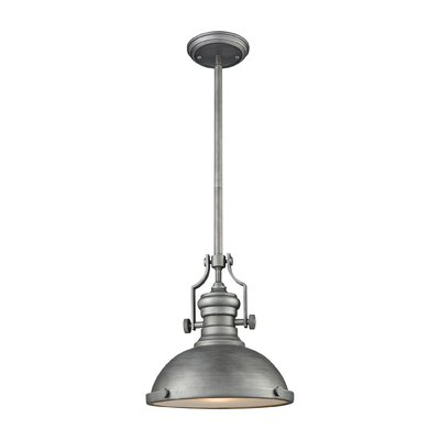 Susan 1-Light Mini Pendant Finish: Weathered Zinc, Size: 14 H x 13 W x 13 D