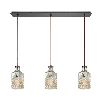 Brunoy Linear Pan 3-Light Kitchen Island Pendant Shade Color: Champagne Plated