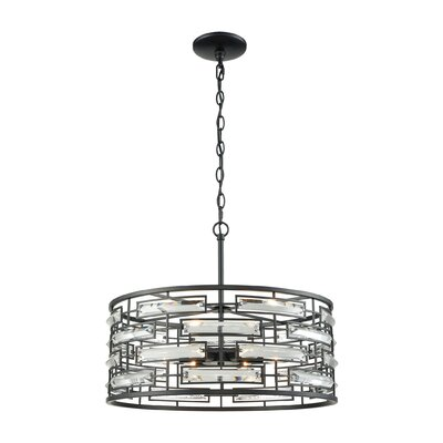 Esterly Crystal 6-Light Drum Pendant