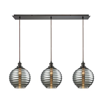 Bourbeau 3-Light Kitchen Island Pendant