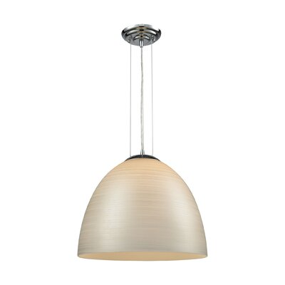 Mcbride 1-Light Mini Pendant Shade Color: Silver, Size: 14 H x 15 W x 15 D