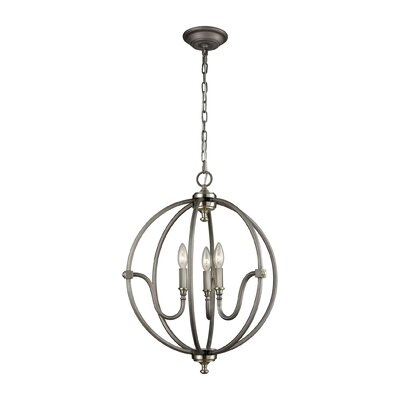 Ellis 3-Light Foyer Pendant Finish: Weathered Zinc/Brushed Nickel