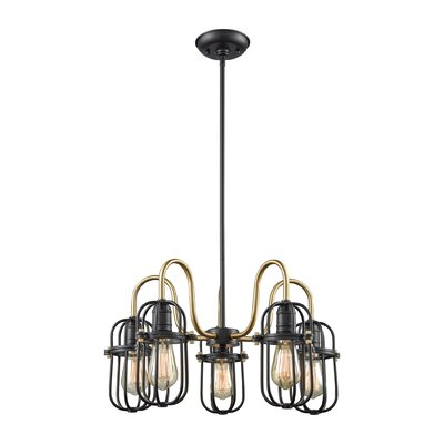 Sosa 5-Light Shaded Chandelier
