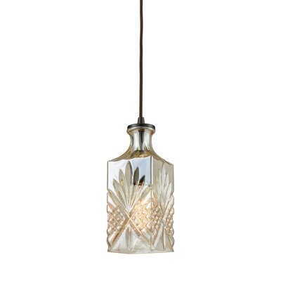 Bedingfield 1-Light Mini Pendant Shade Color: Champagne Plated