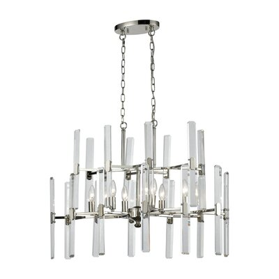 Mikula Crystal Heights 6-Light Candle-Style Chandelier