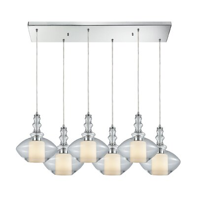 Cabell 6-Light Cascade Pendant