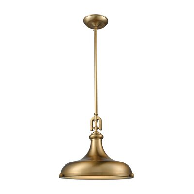 Aquilina 1-Light Inverted Pendant Size: 13 H x 15 W x 15 D