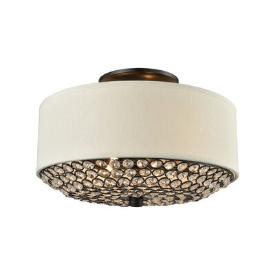 Anika 2-Light Semi Flush Mount