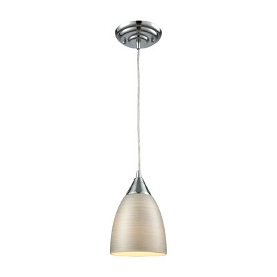 Mcbride 1-Light Mini Pendant Shade Color: Silver, Size: 9 H x 6 W x 6 D