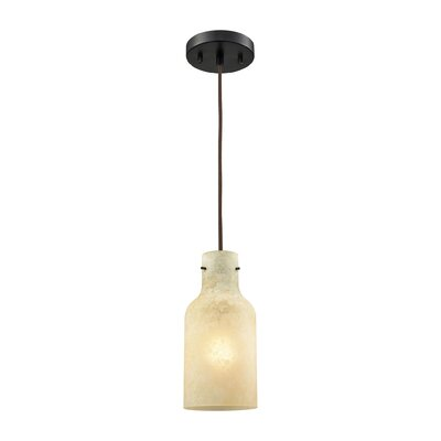 Burkhead 1-Light Mini Pendant Shade Color: Beige