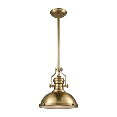 Susan 1-Light Mini Pendant Finish: Satin Brass, Size: 14 H x 13 W x 13 D