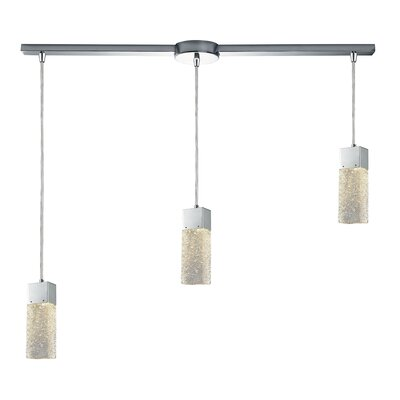 Minard Linear Bar 3-Light Cascade Pendant