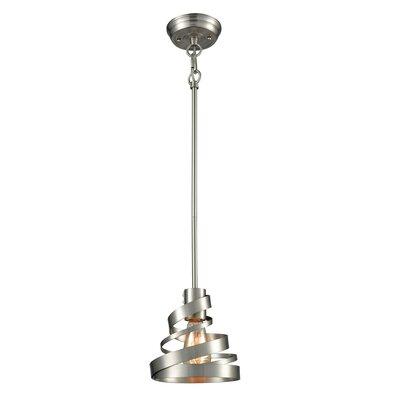 Culpepper 1-Light Mini Pendant Size: 7 H x 7 W x 7 D, Finish: Satin Nickel