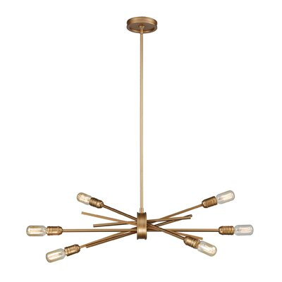 Byler 6-Light Metal Sputnik Chandelier Size: 16 H x 31 W x 18 D