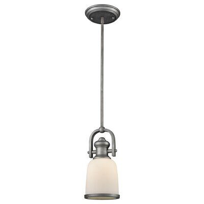 Claflin 1-Light Mini Pendant Base Finish: Weathered Zinc