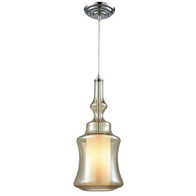 Cabell 1-Light Mini Pendant Shade Color: Champagne Plated