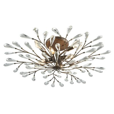 Mailiah 8-Light Semi Flush Mount