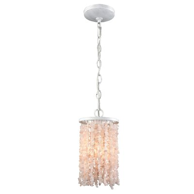 Stanton 60W 1-Light Mini Pendant Finish: Off White/White/Pink