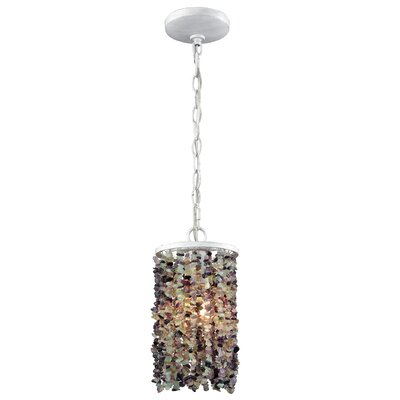 Stanton 60W 1-Light Mini Pendant Finish: Off White/Purple