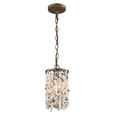 Stanton 60W 1-Light Mini Pendant Finish: Weathered Bronze/Gray